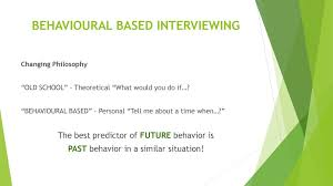 Behavioural Based Interviewing Tips For Successfull Interviewing Ppt Download