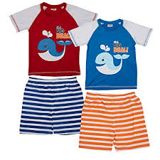 2 Pack Sweet & Soft <b>Infant Boys</b> One-Piece Rash Guard Sunsuits ...