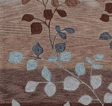 leaf pattern area rugs surprising contempory square brown blue modern home design 18