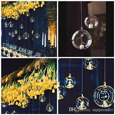 hanging glass ball candle holder for wedding decor glass ball candle holder flat bottom hanging glass terrarium candle holders candle tealight holder