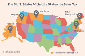 Tennessee Sales Tax Chart 2018 U S States With Minimal Or No Sales Taxes