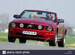 Car, Ford Mustang GT Convertible, model year 2005-, ruby colored ...