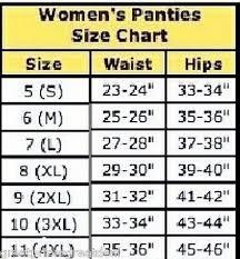 Secret Treasures Intimates Size Chart Lot Of 6 Women Love Cotton Bikini Panties Briefs Underwear