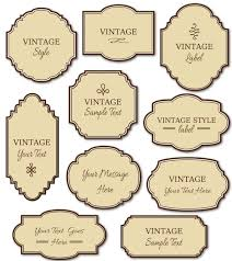 Free Printable Vintage Label Templates | World Of Printable And Chart