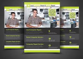 Computer Repair Flyer Template Enchanting Computer Repair Flyer Template Flyer Templates Creative Market