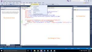 View Designer In Visual Studio 2015 Xaml Universal Windows App Visual Studio 2015 Community No