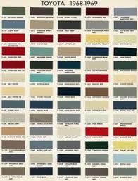 Car Colour Codes Chart 7 Best Auto Paint Color Charts Images Paint Color Chart