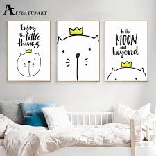 afflatus cute cat wall art canvas painting life quotes nordic posters and prints nursery wall pictures on beyond the wall art prints and posters with afflatus cute cat wall art canvas painting life quotes nordic