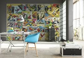 comic panels wall