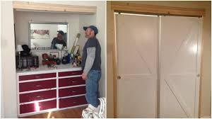 faux barn door closet byp doors featured on remodelaholic