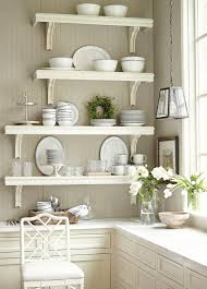 image of kitchen wall shelves ideas