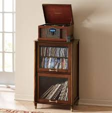 Record storage- love the wood/era