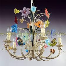 birds murano glass chandelier with regard to popular household murano glass chandeliers designs