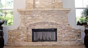Hand-crafted fireplace constructed of Lompoc Oatmeal flagstone, Lompoc  Mountain ledgestone, Gray Blend