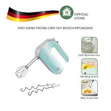 Máy Đánh Trứng Cầm Tay Bosch, Máy Trộn Bột Bosch MFQ40302 - Màu Xanh - Nhập  khẩu từ Đức