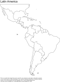 Free Blank Map Of North And South America Latin America Printable