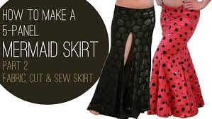Mermaid Skirt Pattern Magnificent How To Make A Mermaid Skirt Part 48 Fabric Cut Sew SPARKLY BELLY