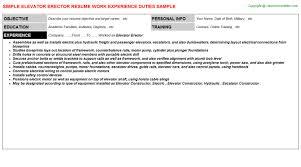elevator resume sample elevator erector cv resume
