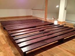 Bed Frame : Low Profile Metal Full Canada Wooden Frames Size ...