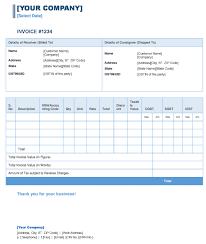 Tax Invoice Layout Unique Tax Invoice Under GST