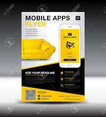 Design Flyer App Mobile Apps Flyer Template Business Brochure Design Layout