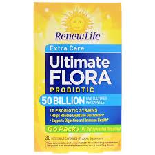 <b>Ultimate</b> Flora Probiotic 50 Billion <b>Extra Care</b> Formula <b>Go Pack</b> ...