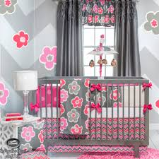 ... Entrancing Image Of Unique Baby Nursery Room Decoration Ideas :  Extraordinary Pink Grey Unique Baby Nursery ...