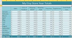 Tracking Inventory Excel Excel Spreadsheet For Etsy Shop Track Inventory Sales And Costs