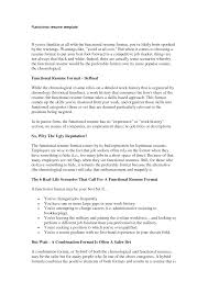 Functional Resume Format Free Resume Example And Writing Download