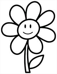 Flower Color Pages Simple Flower Coloring Sheets Free Coloring Pages