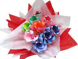 Paper Origami Flower Bouquet Www Sesames Co Uk London Origami Florist Paper Origami Flowers
