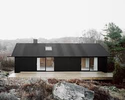 19 Examples Of Modern Scandinavian House Designs | The all black exterior  of this simple home