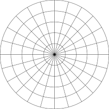 Polar Grid In Degrees With Radius 5 Clipart Etc