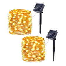 Amazon Solar Outdoor String Lights Brizled Solar String Lights 33ft 100 Led Solar Fairy Lights 8 Modes Indoor Outdoor String Lights With Memory Waterproof Starry Decorative String