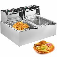 Restaurant & Food Service 5000W 12LT Dual Tank <b>Electric Deep</b> ...