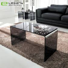 china modern grey glass center table