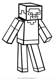 Disegno Minecraft Steve Misti Da Colorare