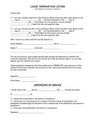 free 30 days lease termination letters
