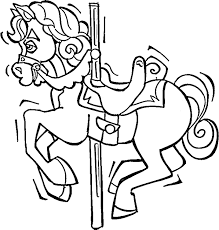 Small Picture Carousel Horse Coloring Page Purple Kitty