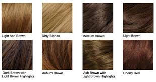 Hair Color Chart Shades Of Blonde Brunette Red Black
