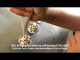 Decorating Cake Balls How to Dip Cake Balls and Piping by Yuki YouTube 67