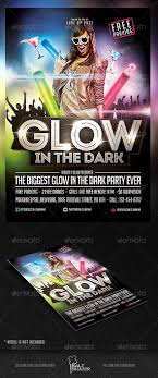 glow flyer glow in the dark party flyer template party flyer club parties