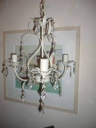 laura ashley pretty chandelier metal with glass droplets vintage ivory gold
