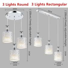 Hallow 3 Light Island Ceiling Light 3 Lights Modern Flower Hollow Out Pattern Petal Ceiling