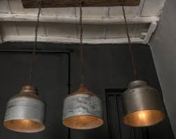 galvanized lighting. Galvanized Lighting Fixture Chandelier,Rustic Industrial Lighting  -industrial Light - Home/ Bar/ Restaurant Light Ceiling Galvanized