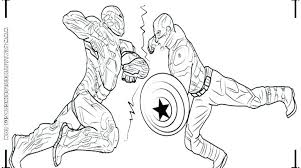 Captain America Coloring Book Free Captain America Color Pages