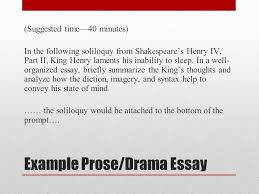 ap english literature and composition national exam ppt video  example prose drama essay