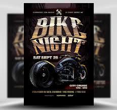 Motorcycle Event Flyer Templates Bike Night Flyer Template Flyerheroes