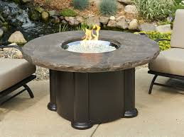 outdoor greatroom marbleized noche colonial height tkc charleston 48 round gas fire pit table in