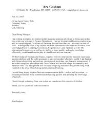 Cover Letter Sample For Internship Jvwithmenow Com